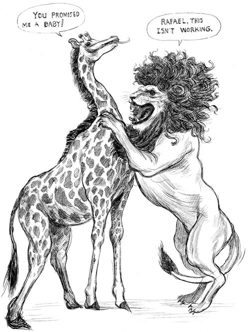 Lion and Giraffe Print