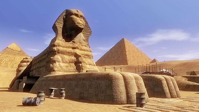 Giza Sphinx modeled to exacting detail