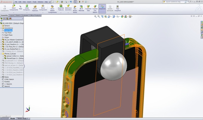 Luxi For All created in CAD to prepare it for production