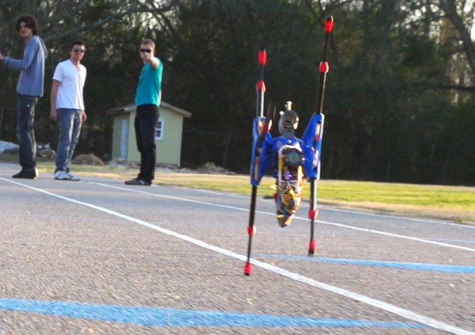 OutRunner prototype crossing the finish line