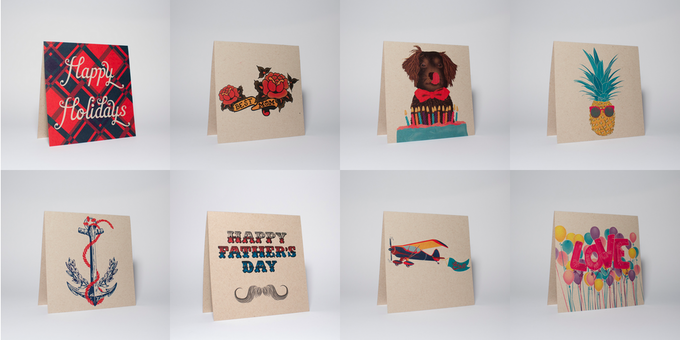 All Occasion Card Set; 1 Christmas, 1 Mother's Day, 1 Birthday, 1 General, 1 Wedding, 1 Father's Day, 1 Baby and 1 Love