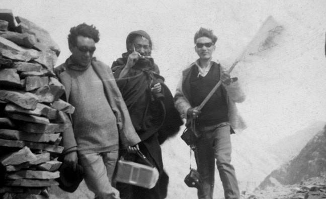 Morup Namgyal (left) with Lamdon Society co-founders Lama Thupstan Palden (center) and Tsering Tsampfel