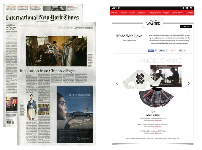 Featured in The International New York Times and VOGUE.com