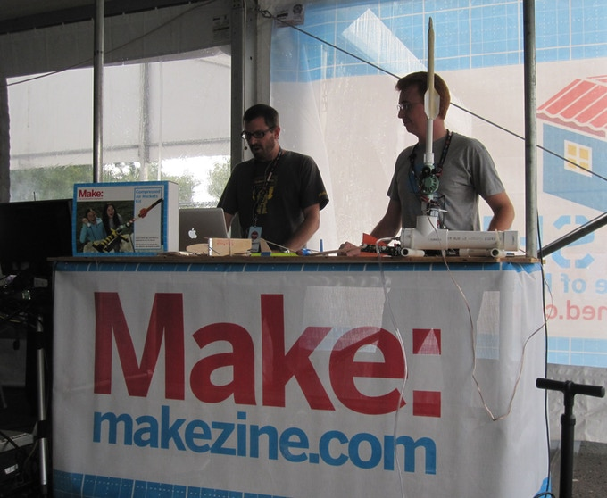 Rick and Keith, presenting at the NY Maker Faire.  If you have never attended a Maker Faire, they are great fun for the entire family.  There were more than 100 Maker Faires held around the world last year.  Click on the picture to find a faire near you.