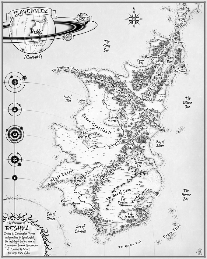 Map of Reskha: After the Changing of the Sun (Created by Rob Antonishen of http://www.cartocopia.com)