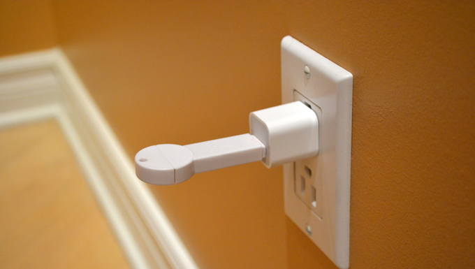 bKey charging through an A/C wall adapter