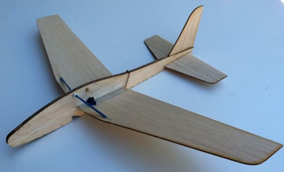 Folding Wing Glider kit, wings open.