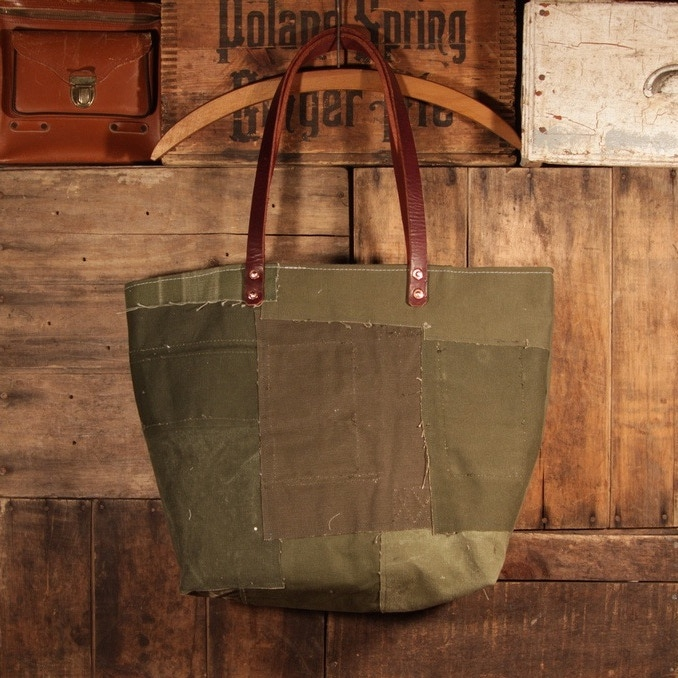 Silhouette of Patchwork Tote