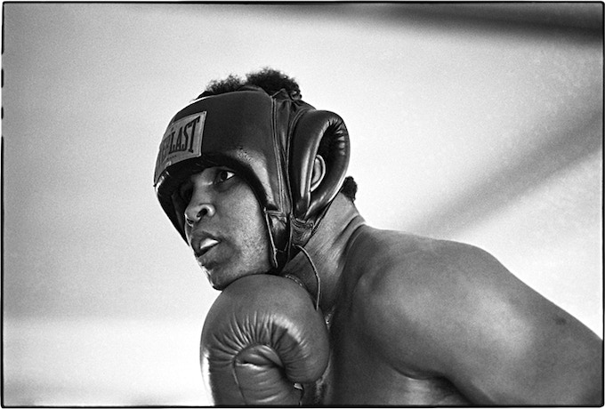 < C > Ali in the ring in a moment of reflection