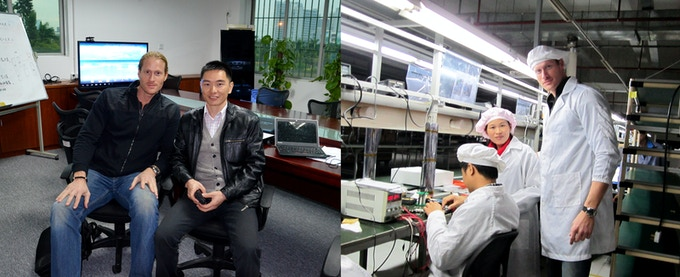 Working with our talented team in Shenzhen