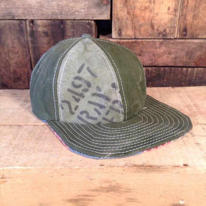 Military canvas baseball cap