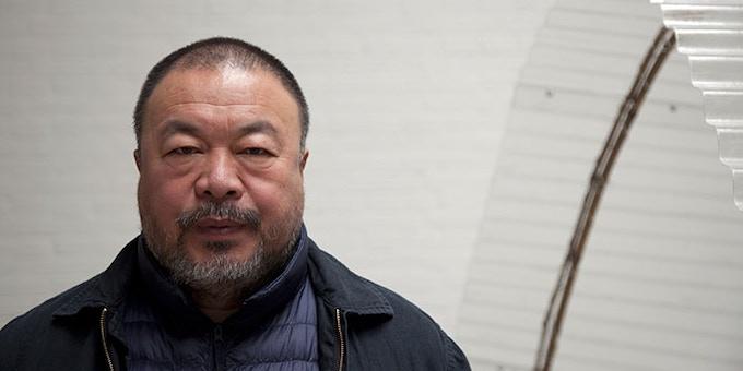 Ai Weiwei at his studio in Beijing, 2014; photo: Jan Stürmann