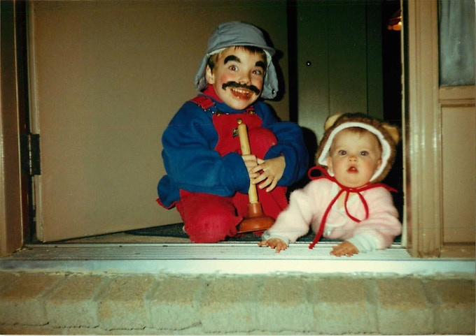 me as Mario for Halloween back in the good old days