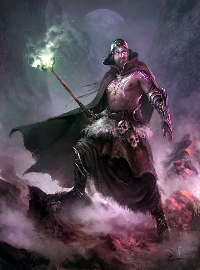 Official Artwork for the Character Myrddin Emrys (Merlin)