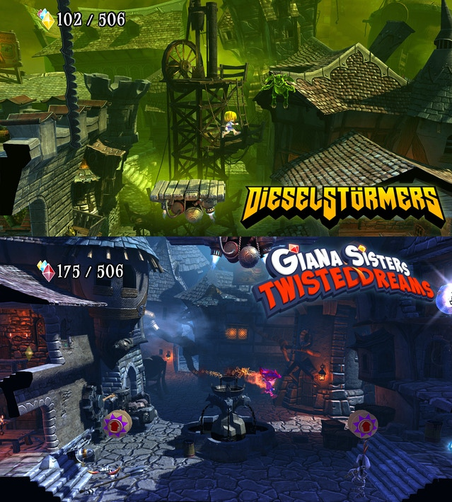 DieselStormers-themed level in Giana