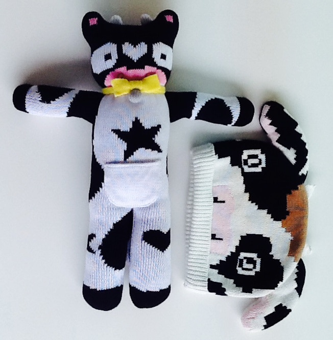Udderly Cute Award: Knitted novelty cow hat and cuddly toy ($75)