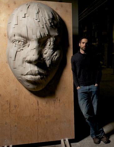 "Eve, 2011, 60""x36""/150cmx90cm, limestone"