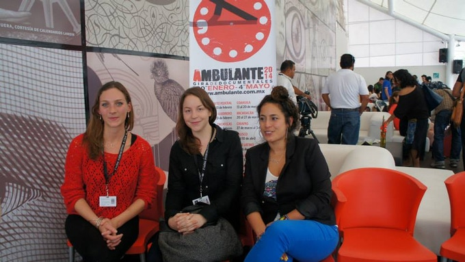 The ladies of Ambulante; Managing Director, Marie-Ève Parenteau.,  Executive Director, Elena Fortes, and Ambulante California Director, Christine Davila