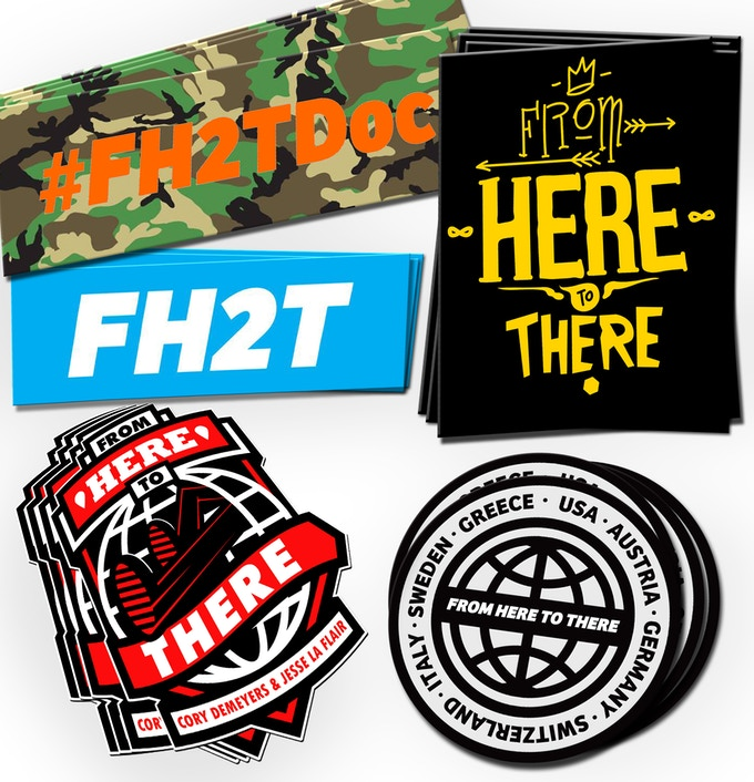 A From Here to There Sticker Pack for pledges of $10 or more!