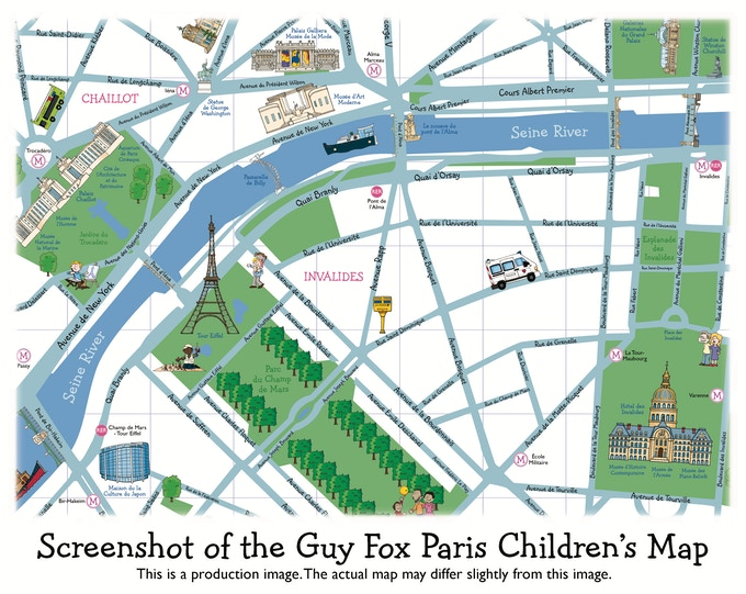 Guy Fox Paris Children\'s Map by The Guy Fox Team — Kickstarter