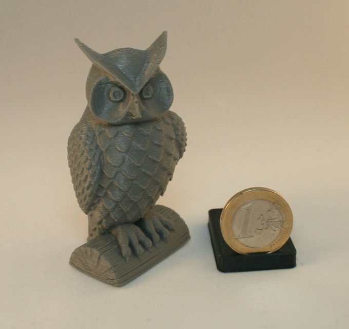 Small Owl printed in ABS
