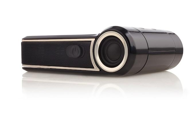 ODIN sports two 4-watt Bluetooth speakers (to compare, iPhone 5 has one 0.8 watt speaker).
