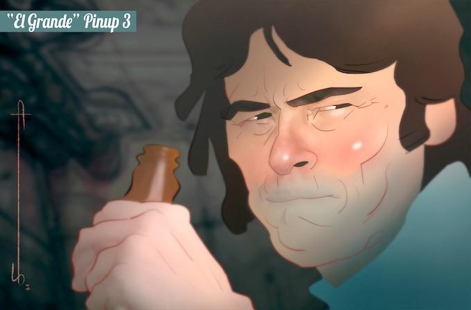"""El Grande"" Pinup 3 by project writer Joseph Karg"