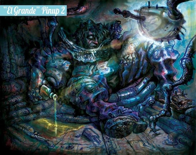 """""""El Grande: Pinup 2 by project artist Elio Guevara"""