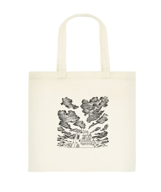 Canvas tote bag printed with the 'Castle' illustration