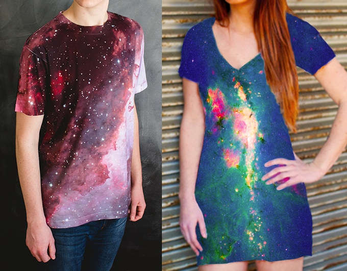 (shirt on left is real, dress on right is a mock-up)