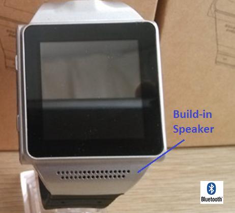 Build-in speaker or pair to car speaker through Bluetooth