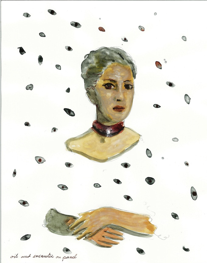 """Doña Inés in a Field of Gazes, projected size: 40 x 30"""""""