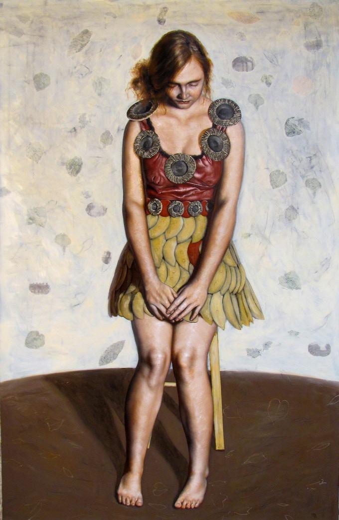 """""""Flight in Winter, oil on canvas, 74 x 48"""""""