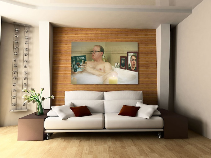 Artist's rendering of what a HUGE CANVAS PRINT may look like in a swanky apartment. Your apartment?