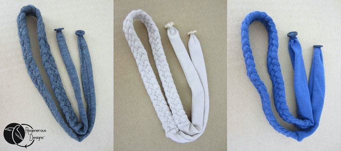 The Button Band Colors - Dark Grey, Ivory, & Navy Blue.