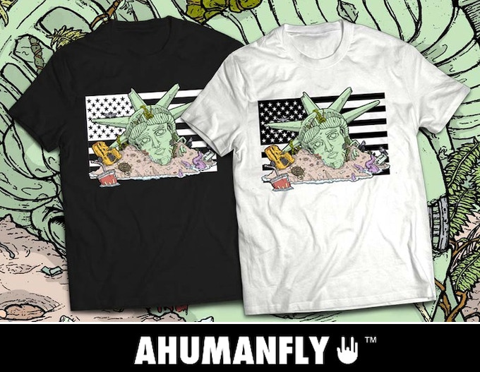 Feral America T Shirt by AHUMANFLY