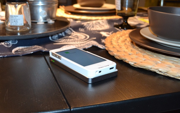 Wireless charge with QiPack while you enjoy your dinner.