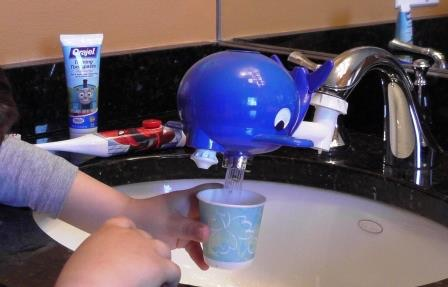 The Whaleywasher makes basic tasks like getting a glass of water simple and easy for any child... adults no longer need to turn on the water