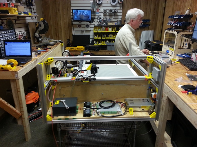 Last steps in building our laser cutter