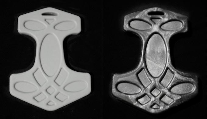 Thor's Hammer in Odin's beard grey and metallic gun metal black