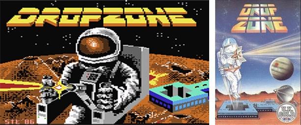 Dropzone 'loading' screen and box art