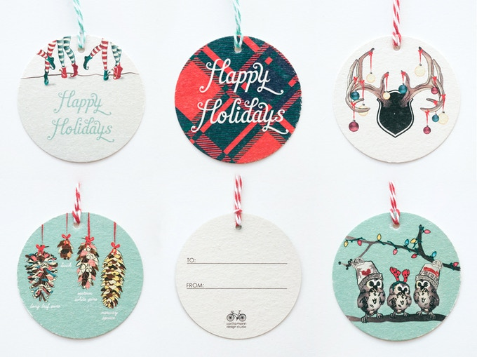 Gift Tags; 6/pck; Please pick your favourite design; Twine included.