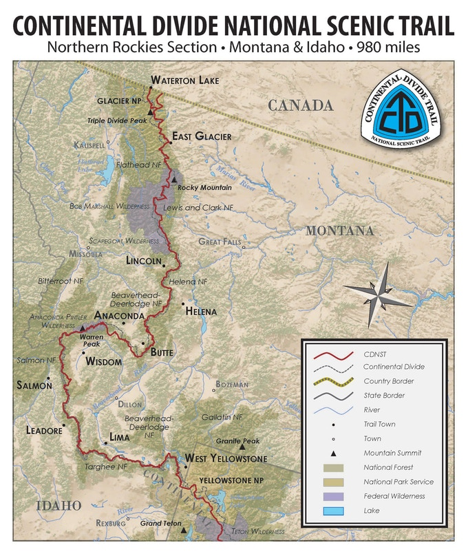 SoleSearch The Continental Divide Trail By Nicole Qualtieri - Cdt trail map