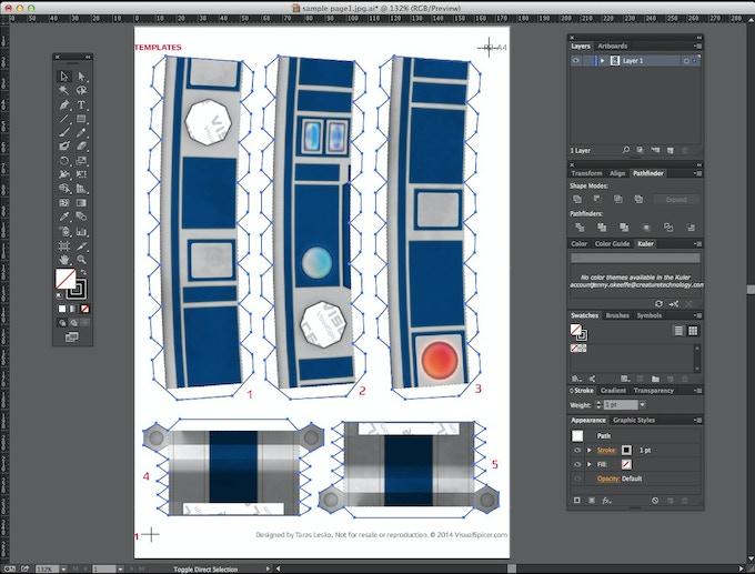 Vector graphics in Adobe Illustrator