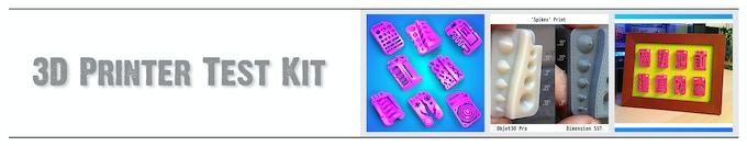 The Original 3D Printer Test Kit - By 3DKitbash.com