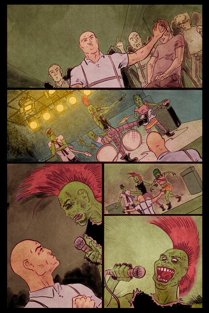 sample page (unlettered) from TTR #1