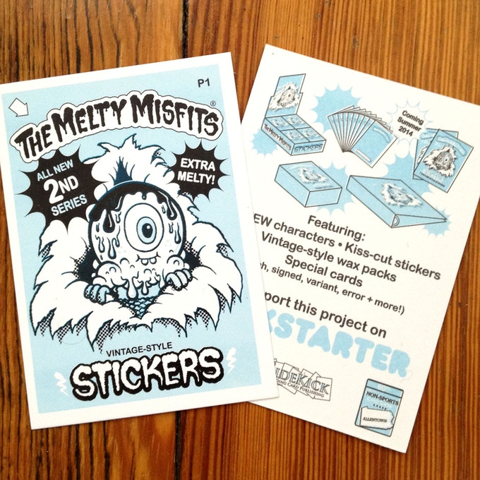 We made these Promo cards recently. We'll send one to anyone who pledges $10 or more!