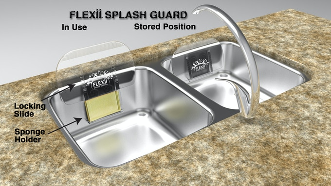 Flexii splash guard stop getting splashed when doing for Splash guard kitchen sink