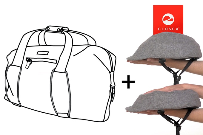 Bike Share Bag and Closca Foldable Helmet