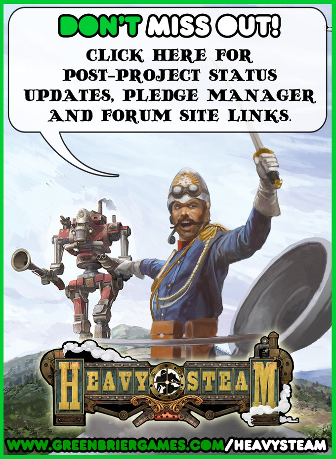 Heavy Steam: Post Campaign Details